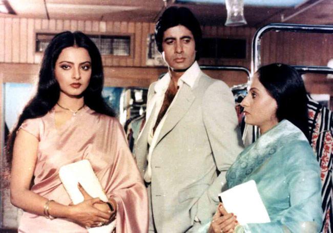 Amitabh Bachchan,Rekha and Jaya Bachchan In Silsila