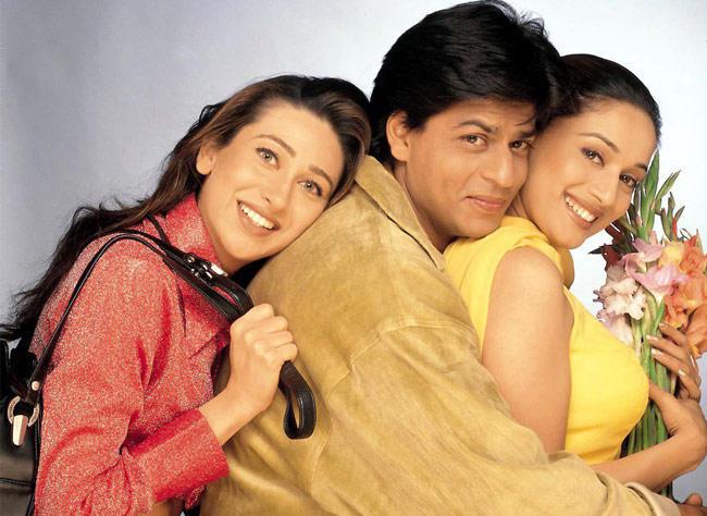 Madhuri,Karishma and SRK Sweetest Still In Dil To Pagal Hai Movie