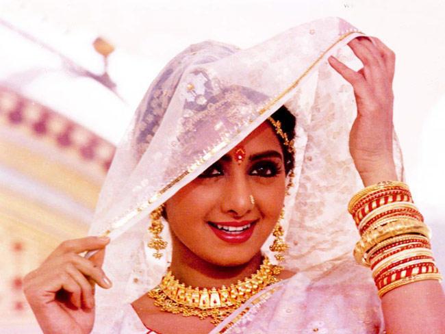 Sridevi Kapoor Beautiful Bridal Look In Chandni