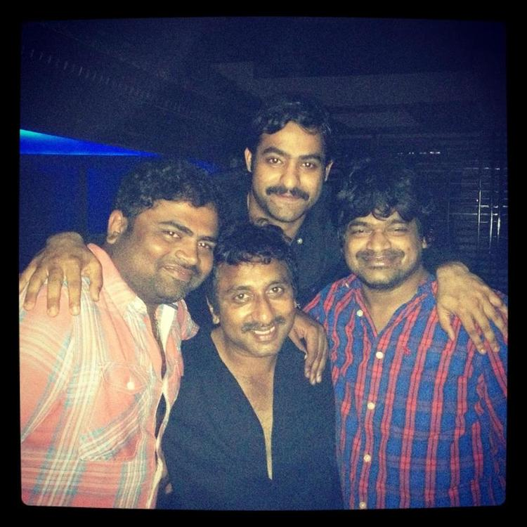 Rare Party Pics of NTR With His Three Directors