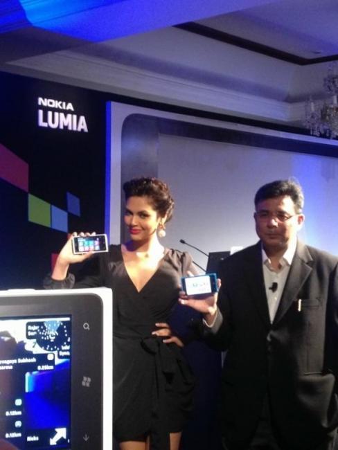 Esha Gupta at Nokia Lumia Launch Event in Delhi