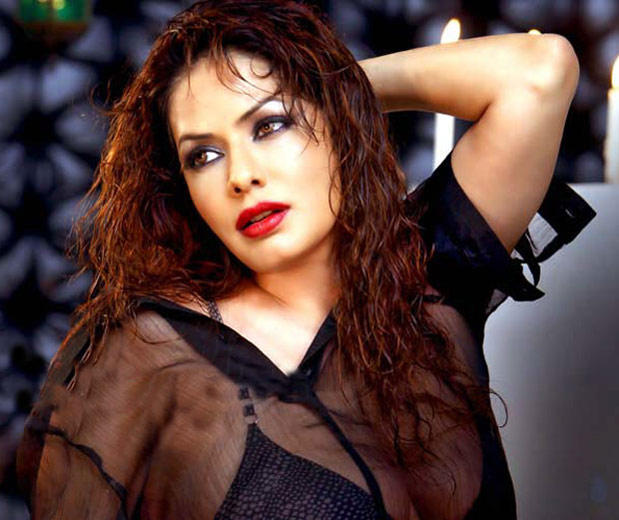 Poonam Jhawer Red Lips Wet Face Look Photo Shoot