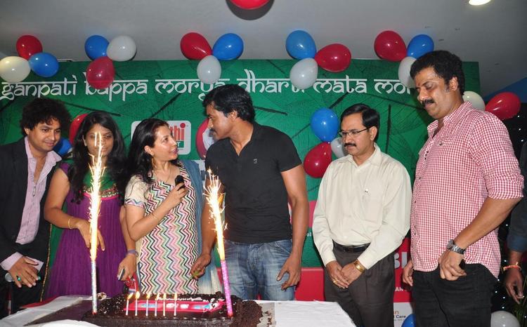 Sunil At BIG FM Green Ganesha Event