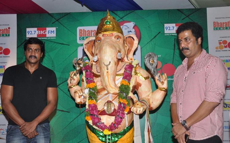 Telugu Comedy Hero Sunil At IMAX Ganesh