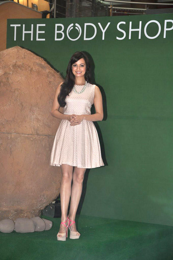 Dia Mirza During The Launch Of Body Shop Coconut Hair Oil