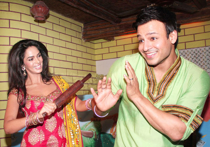 Vivek Oberoi and Mallika At The Promotional Event Of KLPD