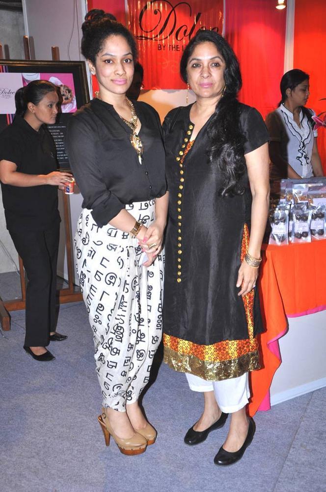Masaba And Neena At Sahachari Foundation Annual Shopping Festival