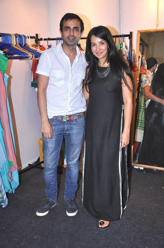 Mayank And Shraddha At Sahachari Foundation Annual Shopping Festival