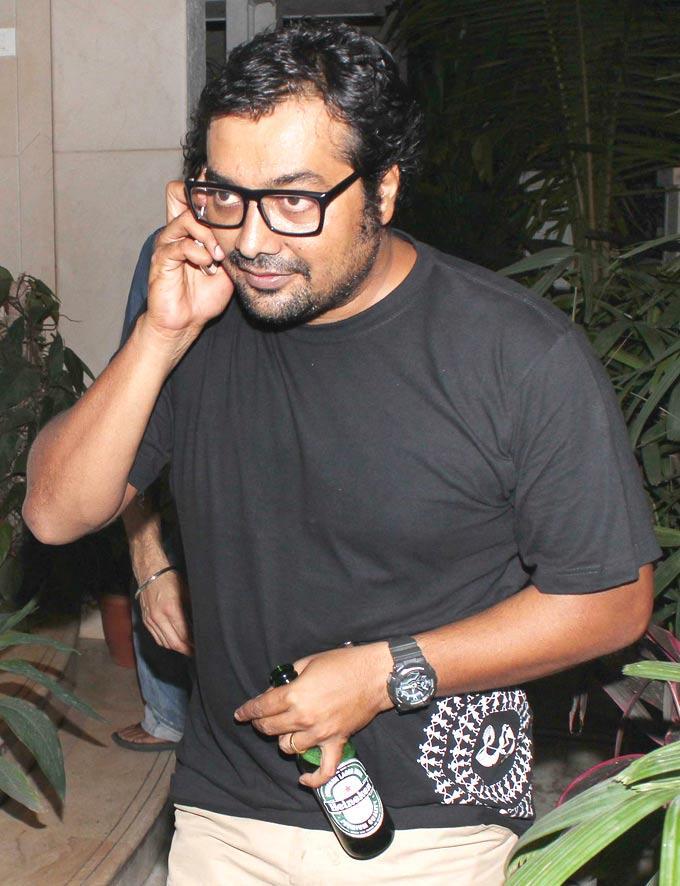 Anurag Kashyap At Ranbir Kapoors 30th Birthday Bash