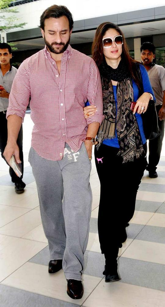 Back From London Saif With Kareena Snapped At Airport