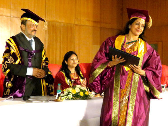 Hema Malini Received Her Honorary Doctorate At The Singhania University in Udaipur