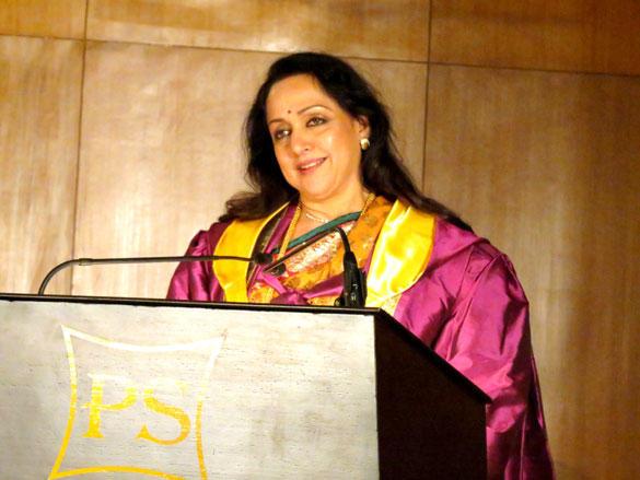 Hema Malini Speaks During The Singhania University in Udaipur