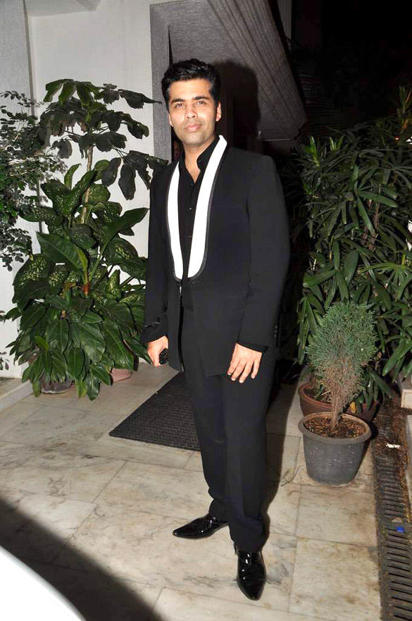 Karan Johar Spotted at Ranbirs 30th Birthday Bash