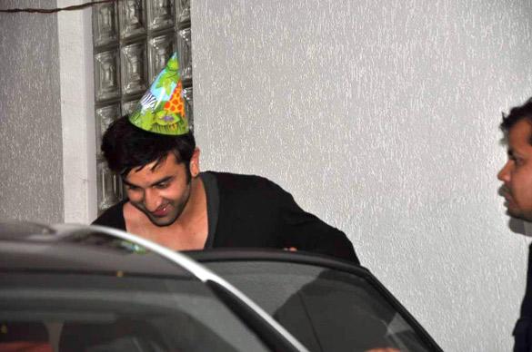 Ranbir Kapoors 30th Birthday Bash Pic at His Residence