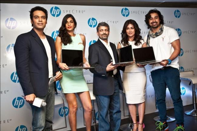 Chitrangada,Anushka And Rannvijay At The HP ENVY SpectreXT In Delhi