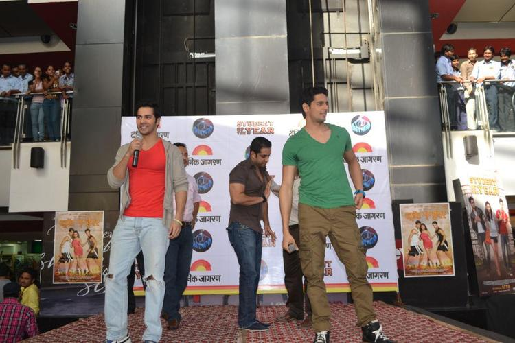 Varun And Siddharth Promote Student Of The Year In Kanpur