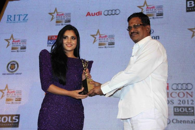 Ramya Receives Award at Audi Ritz Icon Awards 2012
