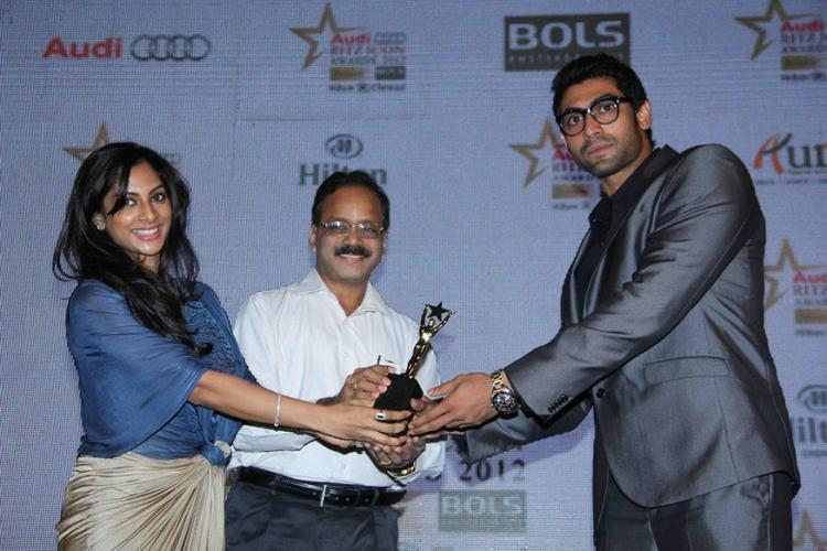Rana Daggubati Receives Award at Audi Ritz Icon Awards 2012