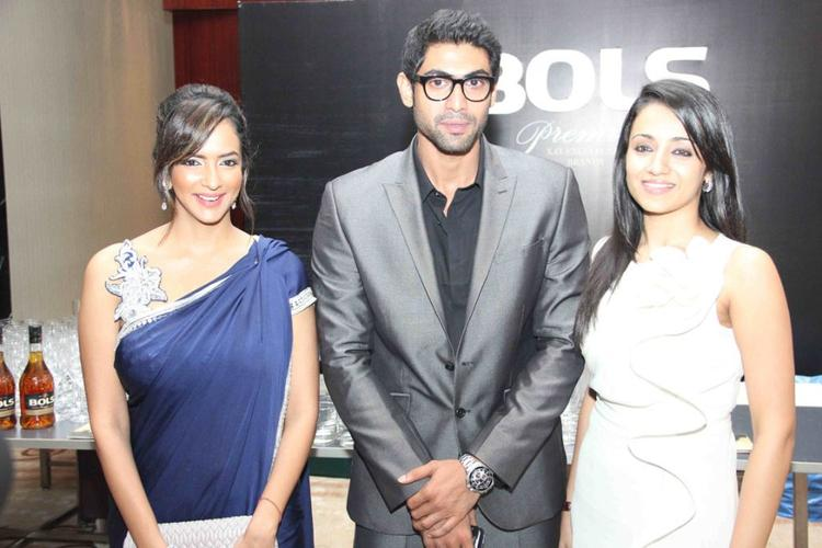 Rana,Trisha and Lakshmi Pose During Audi Ritz Icon Awards 2012