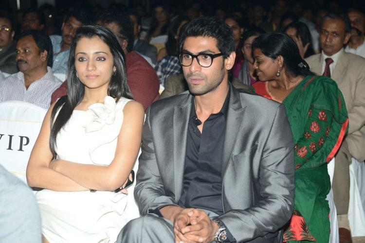 Trisha and Rana at Audi Ritz Icon Awards 2012
