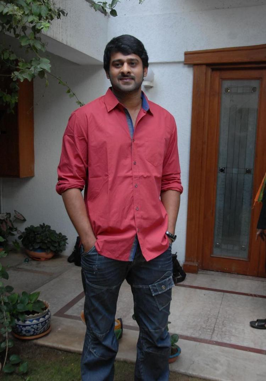 Prabhas At Rebel Movie Press Meet At His Home
