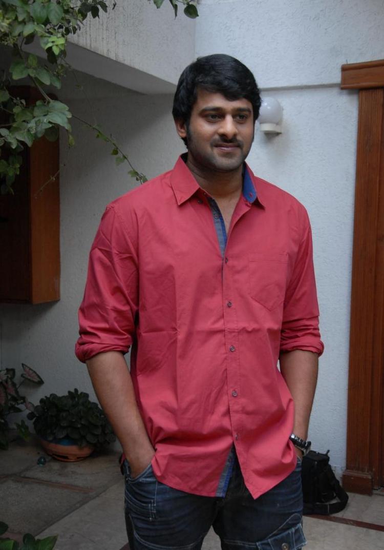 Tollywood Hero Prabhas at His Home During Rebel Movie Press Meet