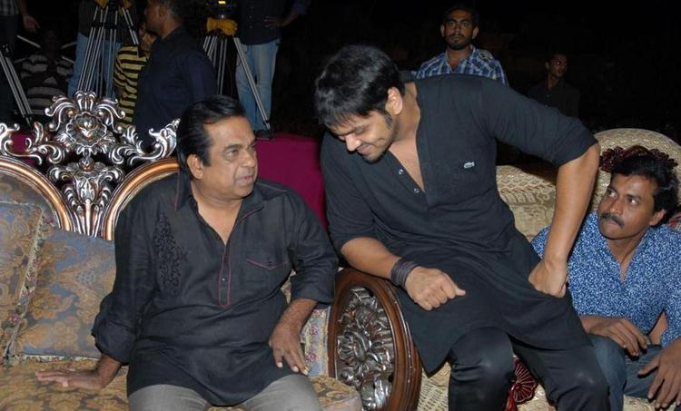 Brahmanandam and Manchu Manoj at Denikaina Ready Audio Release
