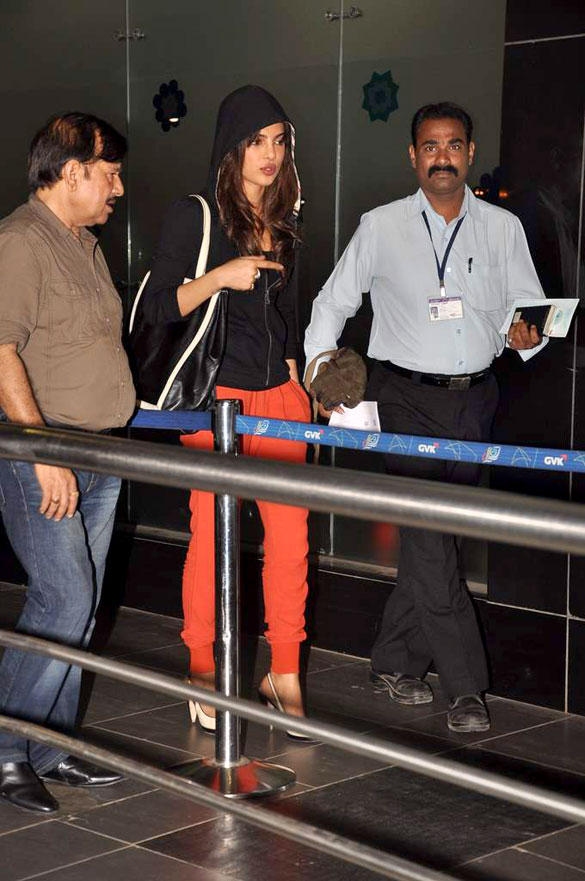 Priyanka Chopra In Black Jacket and Pant at International Airport
