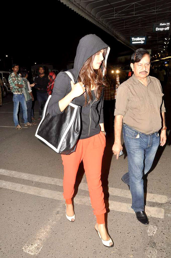 Priyanka Chopra Spotted At The International Airport in Different Getup