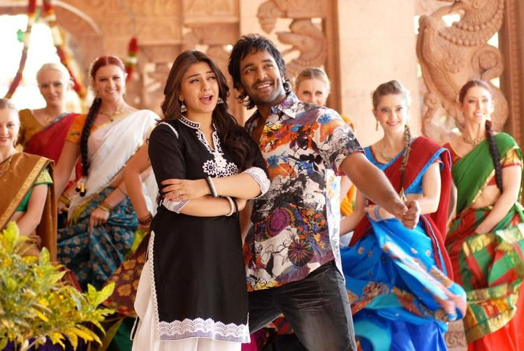 Vishnu And Hansika Song Still From Denikaina Ready Movie