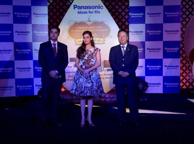 Manish Sharma,Actress Dia Mirza And Daizo Ito At The Panasonic Festive Launch Event
