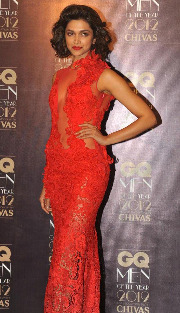 Deepika Padukone Stunning Look in Gaurav Gupta at GQ Men Awards 2012