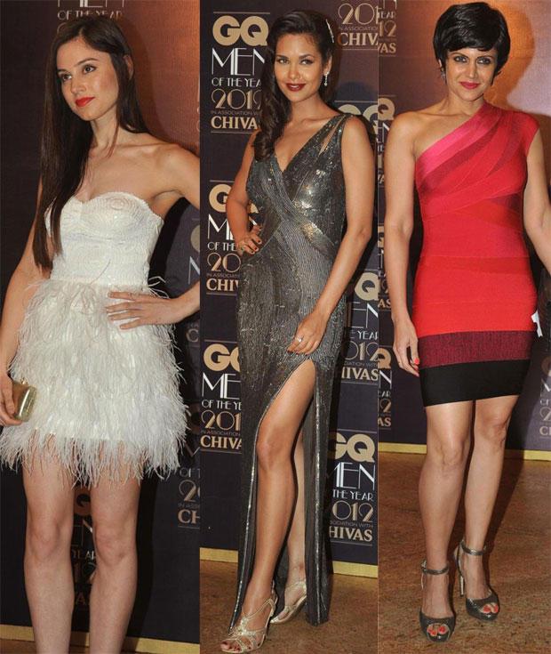 Esha Gupta and Mandira Strikes A Pose During GQ Men Awards 2012