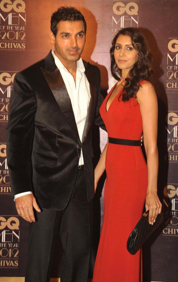John and Priya at GQ Men Awards 2012