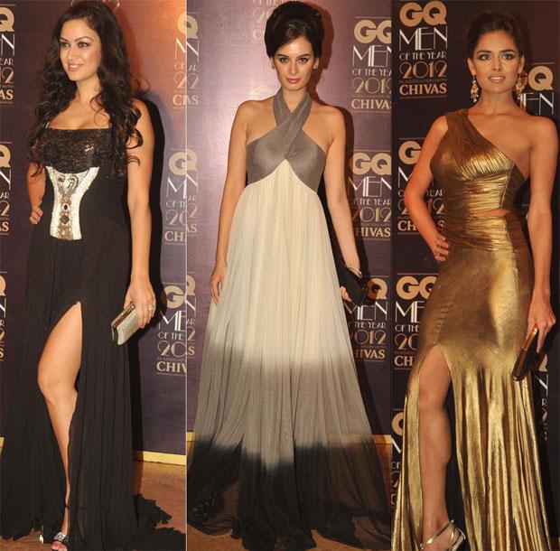 Nathalia,Maryam and Nikhil Thampi at GQ Men Of The Year Awards 2012