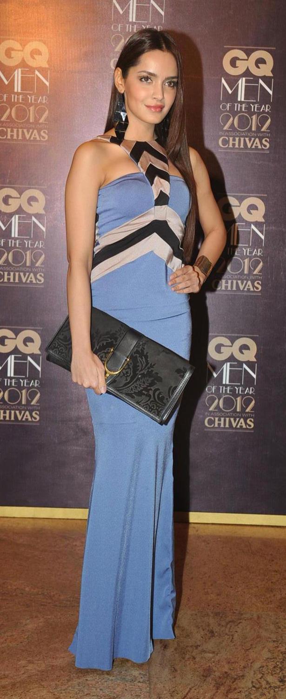 Shazahn Padamsee in Shivan and Narresh Design at GQ Men Awards 2012