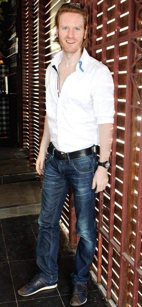 Alex O 'Neill Spotted At Shatranj Napoli and Polpo Cafe and Bar Launch Event