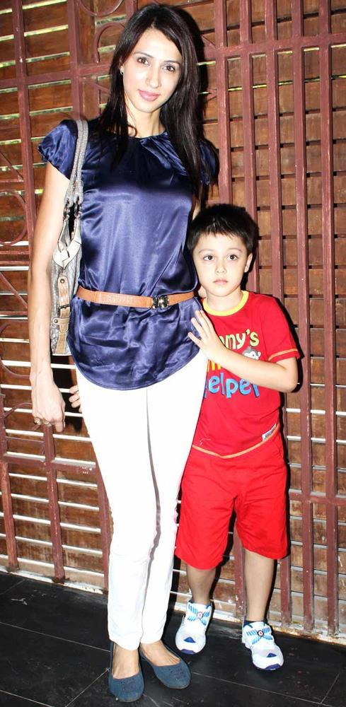 Alicia Raut With Son Mark at Shatranj Napoli and Polpo Cafe and Bar Launch Event
