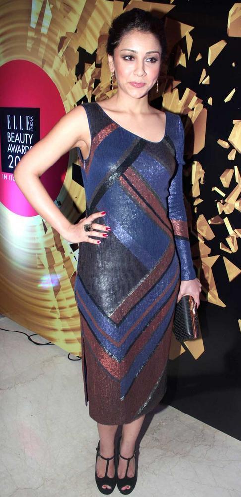 Amrita Puri In Rohit Gandhi And Rahul Khanna At Elle Beauty Awards 2012