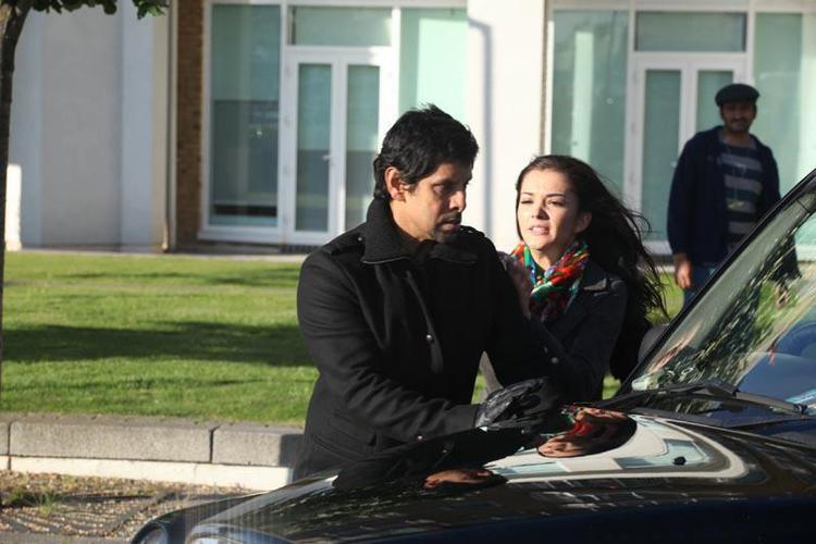 Vikram and Amy Jackson A Still From The Movie Thandavam