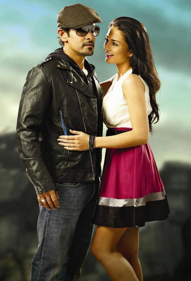 Vikram and Amy Jackson Sweet Sexy Still In Thandavam Movie