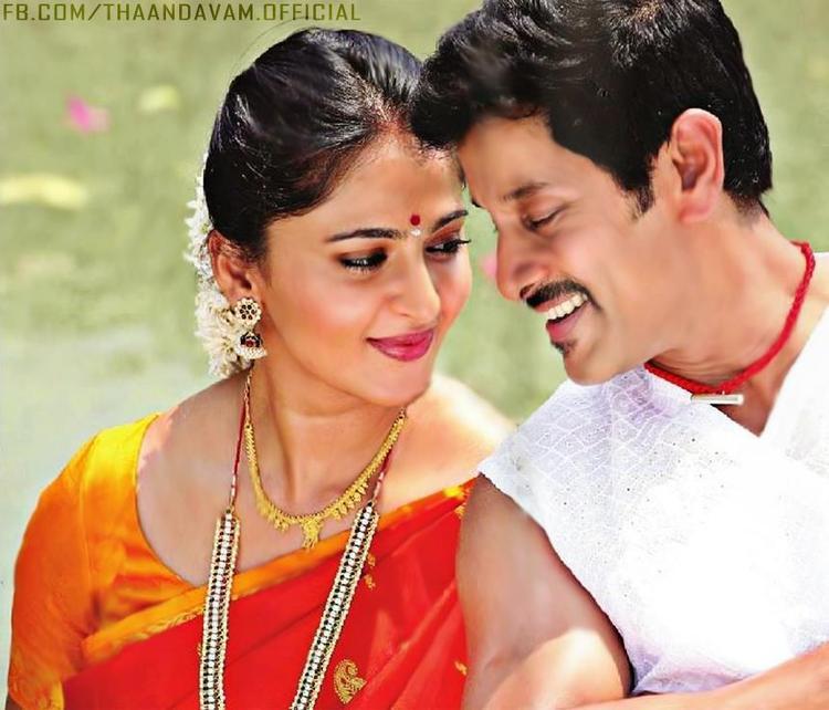 Vikram and Anushka Movie Thandavam Romance Still