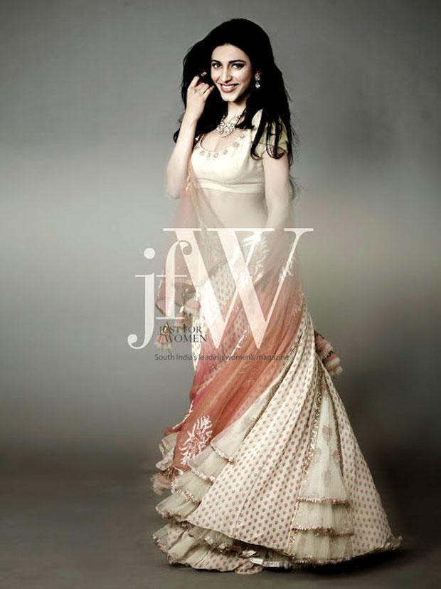Actress Shruti Hassan Beautiful Cute And Hot Photo Shoot For JFW Magazine