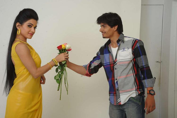 Aaryaman And Kavya In Sorry Teacher Telugu Movie