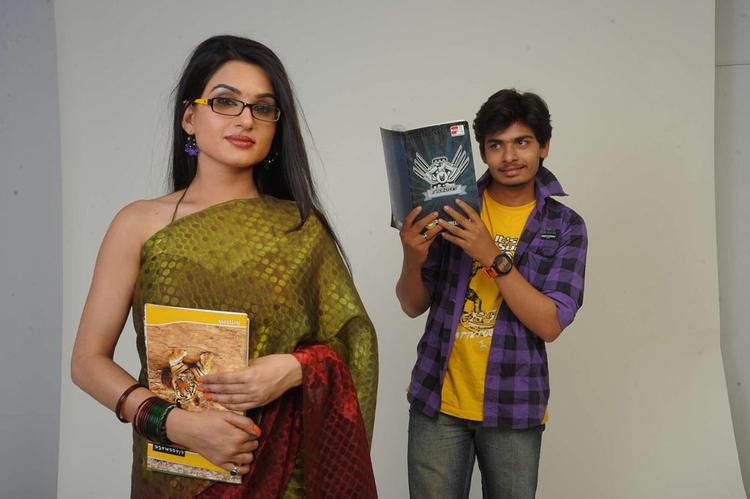 Kavya And Aaryaman A Still From Movie Sorry Teacher