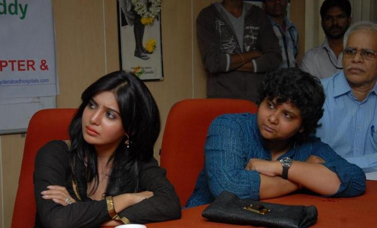 Samantha And Nandini At Hemophilia Awareness Press Meet