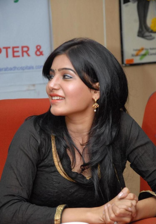 Samantha At Hemophilia Children Meet Event In Hyderabad