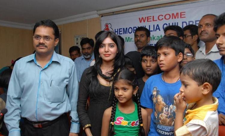 Samantha At Hemophilia Children Meet Photos
