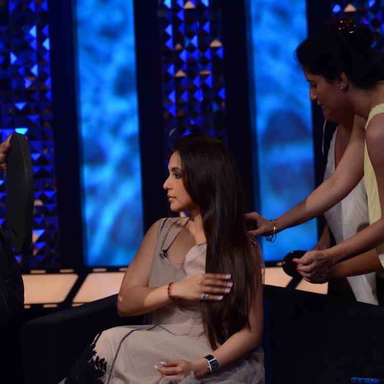 Rani Mukherjee On The Sets Of  Front Row