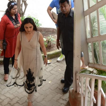 Rani Mukherjee Spotted at Front Row with Anupama Chopra
